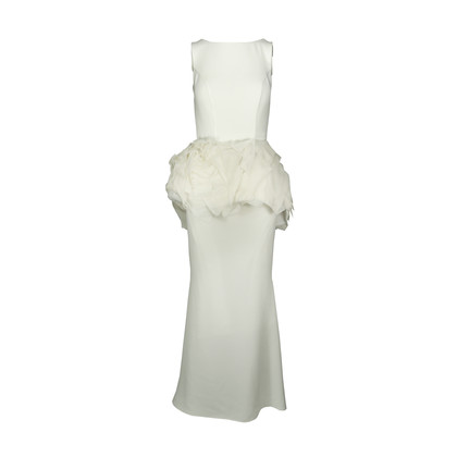 Authentic Second Hand Isabel Sanchis Layered Peplum Evening Gown (PSS-175-00008)
