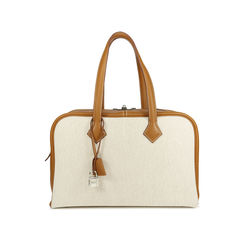 Toile and Leather Victoria II Bag