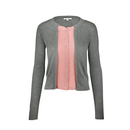 Authentic Second Hand Patrizia Pepe Cardigan with Blouse Detail (PSS-060-00028)