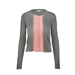 Cardigan with Blouse Detail