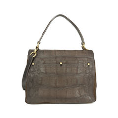 Yves saint laurent croc embossed muse 2 tote 2