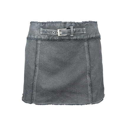 Authentic Second Hand Max & Co Belted Denim Miniskirt (PSS-122-00030)