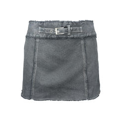 Belted Denim Miniskirt
