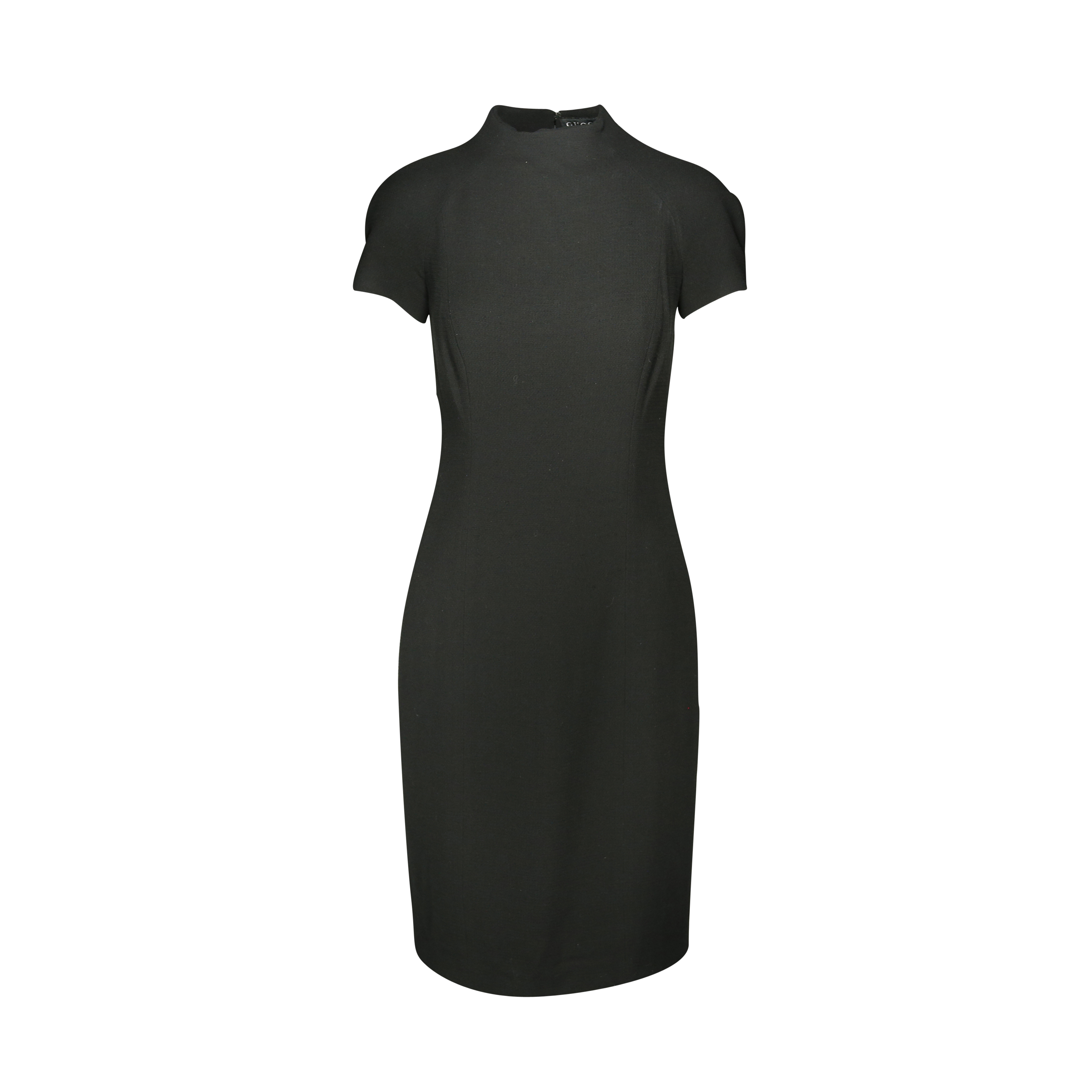 bb7a2d9bef5 Authentic Second Hand Gucci High Collar Sheath Dress (PSS-181-00020 ...