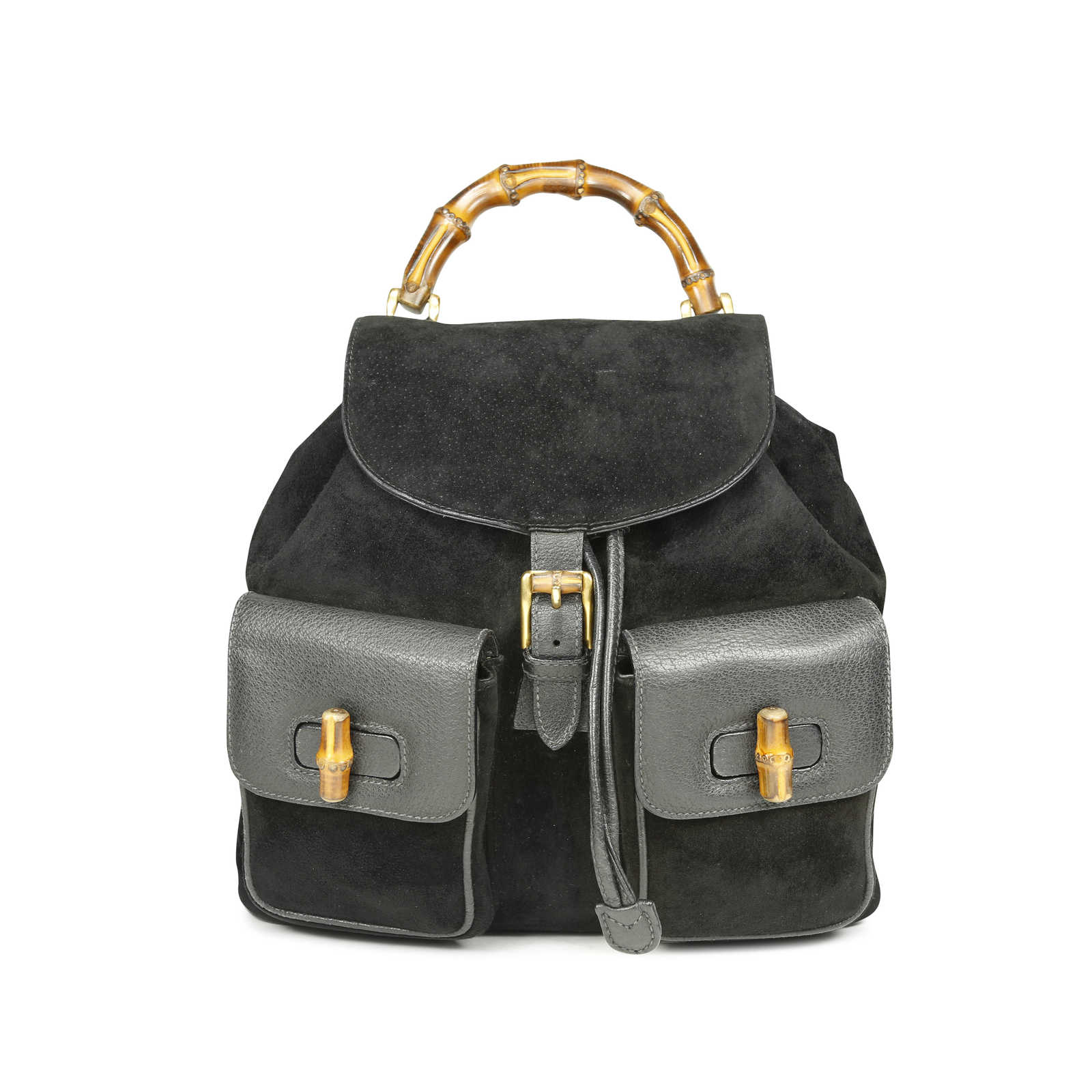 a27cc1fd9dc16b Authentic Vintage Gucci Bamboo Backpack (PSS-181-00025) - Thumbnail 0 ...