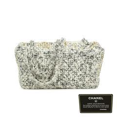 1b4648d6e1bb ... Chanel fantasy tweed wool swarovski crystal classic flap bag 2
