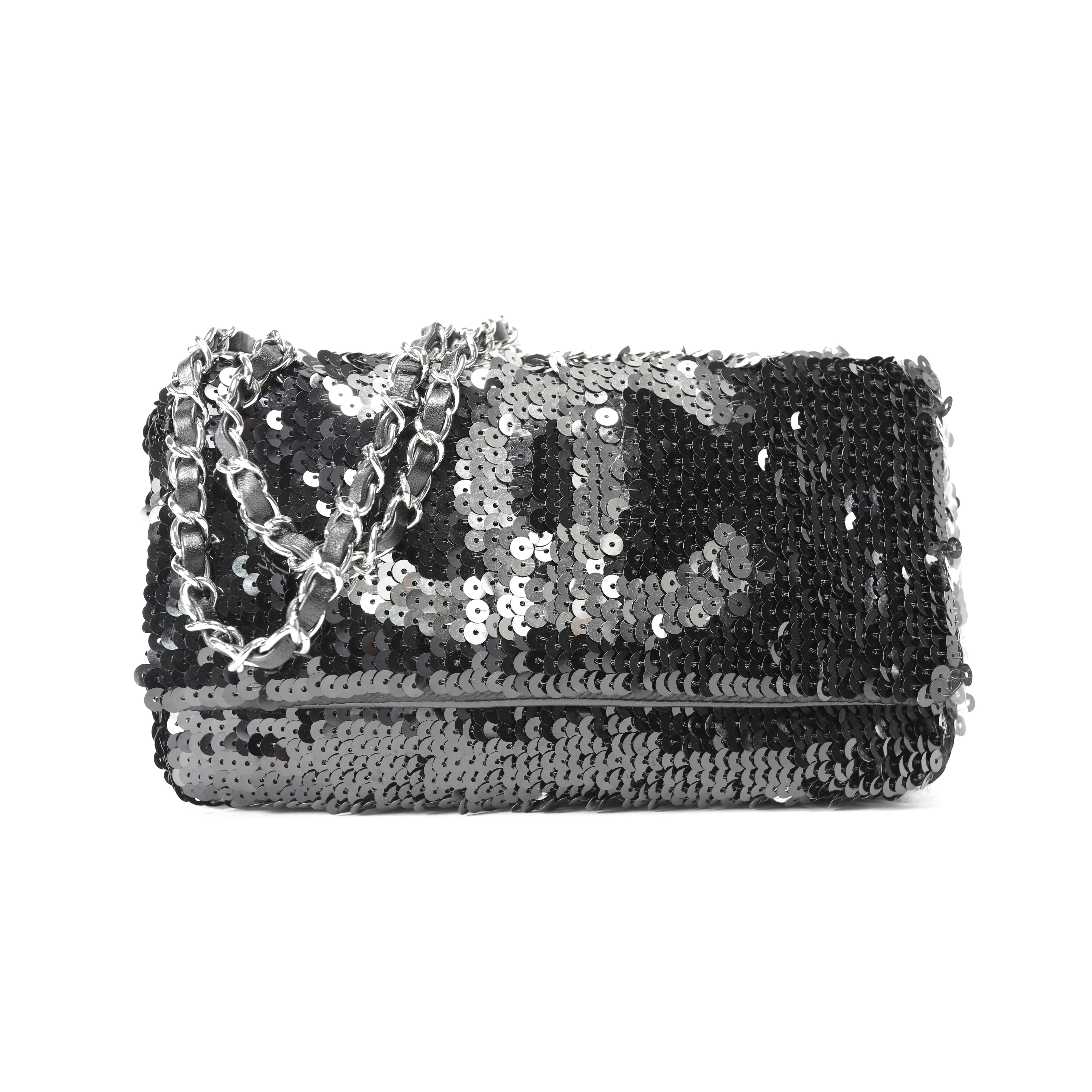 b42bdbc2ab64 Authentic Second Hand Chanel Sequin Reversible Summer Night Flap Bag  (PSS-051-00015) | THE FIFTH COLLECTION