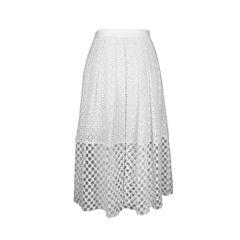 Sonoran Eyelet Embroidered Midi Skirt.