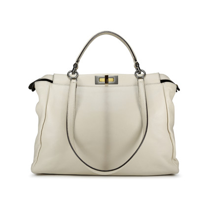 Authentic Second Hand Fendi Snakeskin and Leather Large Peekaboo Satchel (PSS-143-00047)