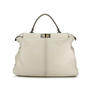 Authentic Second Hand Fendi Snakeskin and Leather Large Peekaboo Satchel (PSS-143-00047) - Thumbnail 1