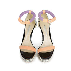Suede and Snakeskin Sandals