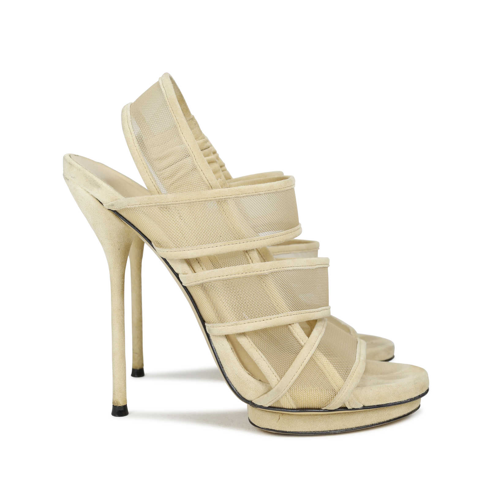 8bbe6f9b113b ... Authentic Second Hand Gucci Suede and Mesh Bette Sandals (PSS-143-00053)