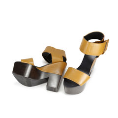 Celine two tone block sandals 2