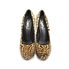 Leopard Pony Hair Tribute Pumps