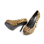 Authentic Second Hand Yves Saint Laurent Leopard Pony Hair Tribute Pumps (PSS-143-00069) - Thumbnail 1
