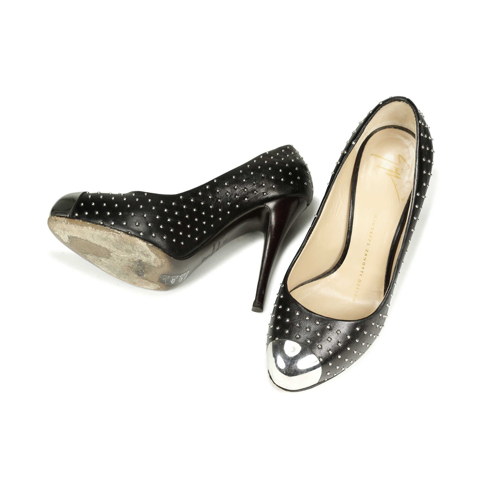 9f383fd8cb8 ... Authentic Second Hand Giuseppe Zanotti Studded Cap Toe Pumps  (PSS-060-00080) ...