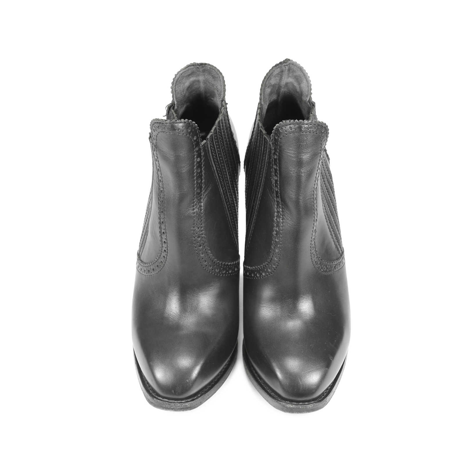 a6d705145cb Authentic Second Hand Alexander McQueen Brogue-Style Booties  (PSS-183-00029) ...