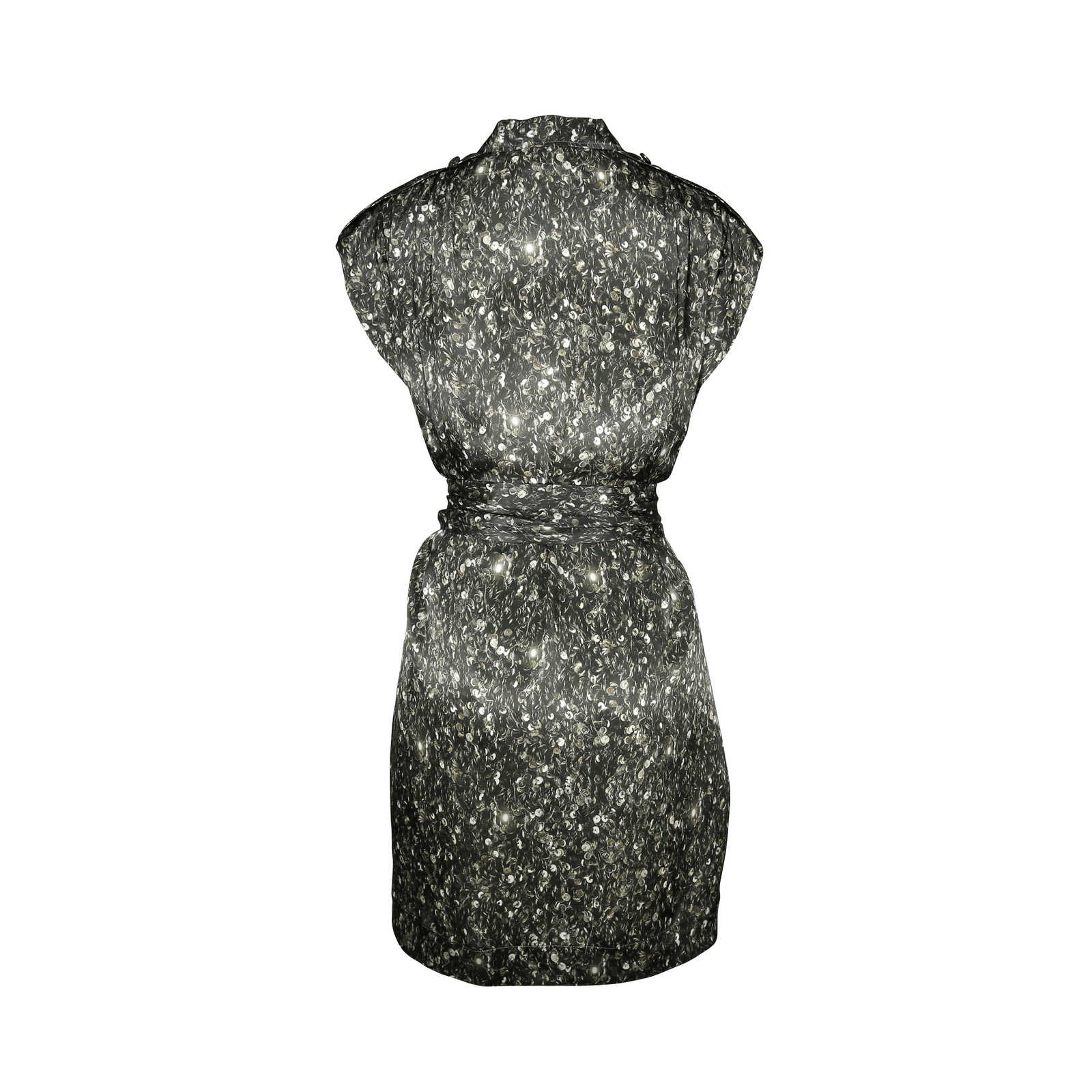 68aa77ca9e24 ... Authentic Second Hand Lanvin Sequin Print Belted Dress (PSS-143-00034)  ...