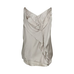 Nina ricci ruffled button blouse 2