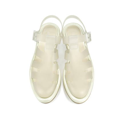 Authentic Second Hand Simone Rocha Clear Perspex Platform Jelly Sandals (PSS-193-00019)