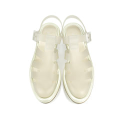 Clear Perspex Platform Jelly Sandals