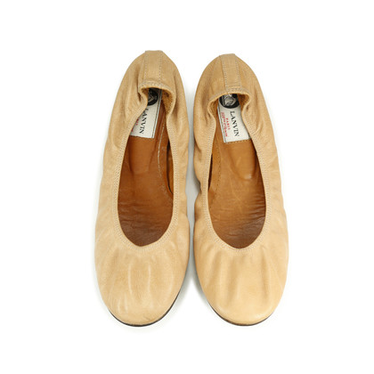 Authentic Pre Owned Lanvin Classic Leather Ballet Flats (PSS-193-00028)
