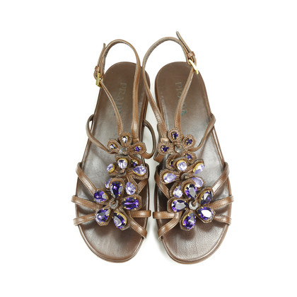 Authentic Second Hand Prada Bejewelled Sandals (PSS-193-00029)