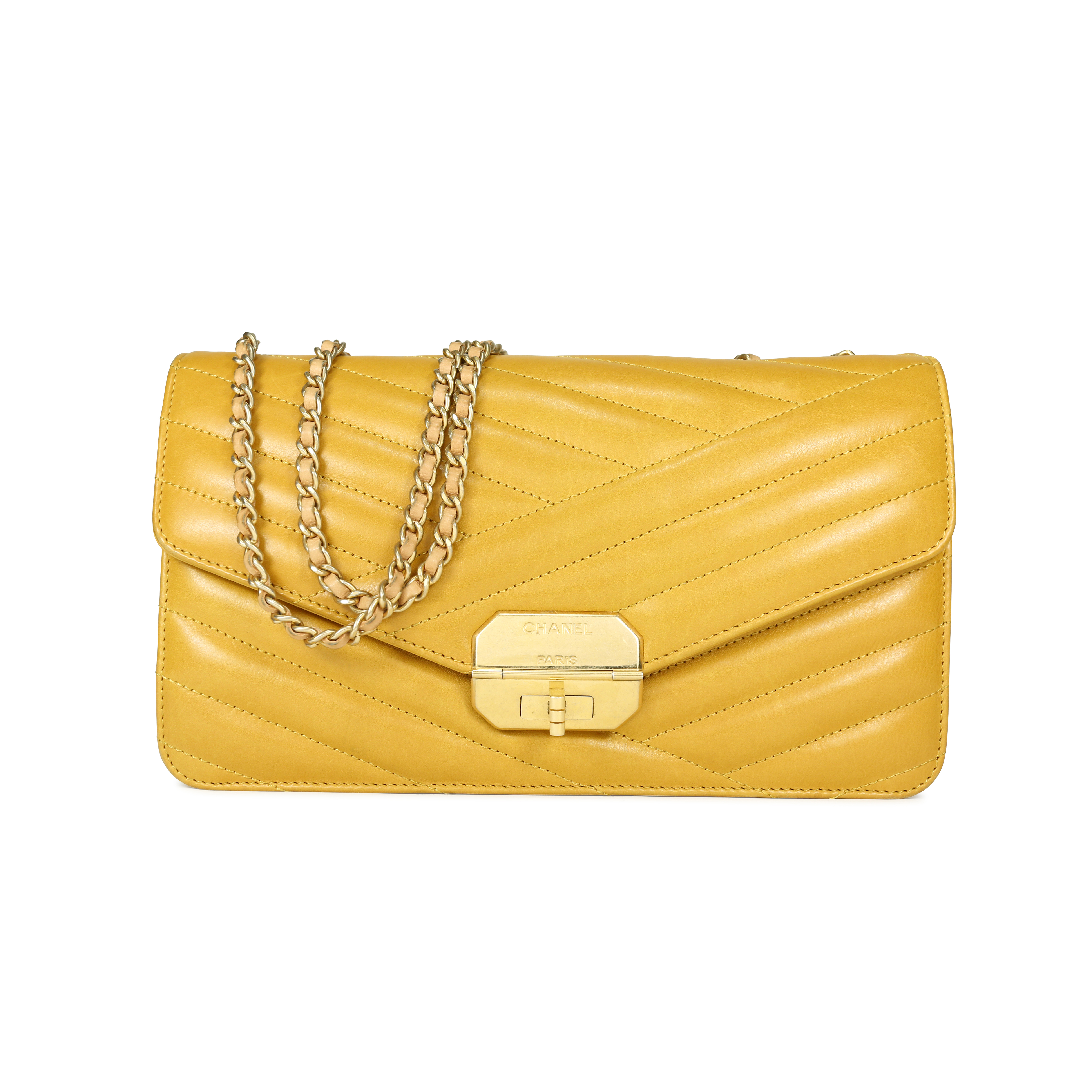 ff2b688aba47 Authentic Second Hand Chanel Chevron Quilted Lambskin Gabrielle Flap Bag  (PSS-190-00001) | THE FIFTH COLLECTION
