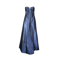 Ruched Silk Gown with Matching Shawl