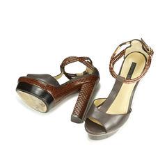 Rachel zoe leather and python platforms 2