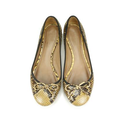 Authentic Second Hand Céline Python Ballet Flats (PSS-060-00012)