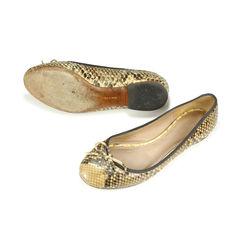 Celine python ballet flats 2