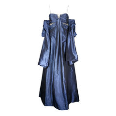 Badgley mischka ruched silk gown with matching shawl 2