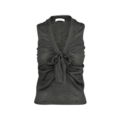 Authentic Second Hand Prada Pussybow Sleeveless Knit Top (PSS-193-00013)