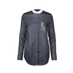Contrast Mandarin Collar Tunic