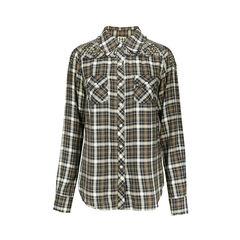 Checkered  Antique Studded Shirt