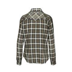 Haute hippie checkered antique studded shirt 3