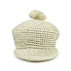 Raffia Bobble Straw Hat
