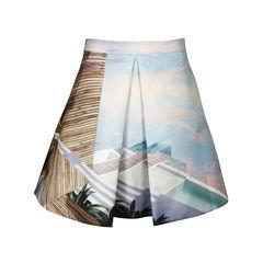 Kathmandu Printed Satin-Twill Skirt