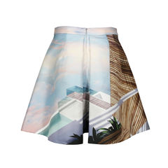 Mary katrantzou kathmandu printed satin twill skirt 2