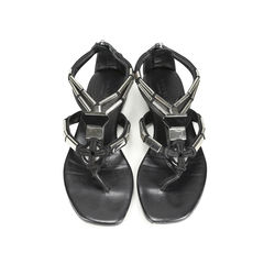 Leather Sigrid Thong Flats