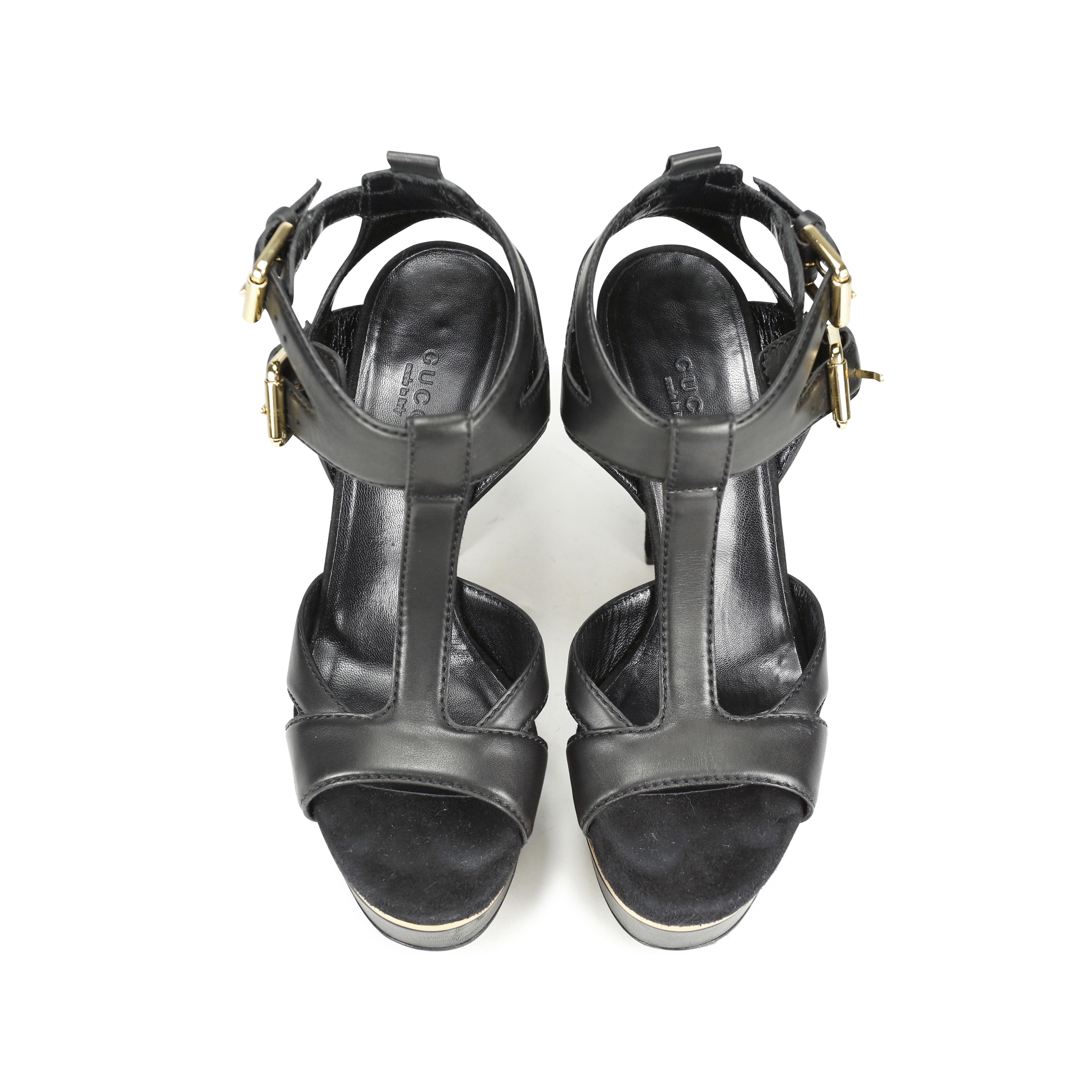 961e9c4fa6ba95 Authentic Second Hand Gucci Iman T-Strap Sandals (PSS-183-00030 ...