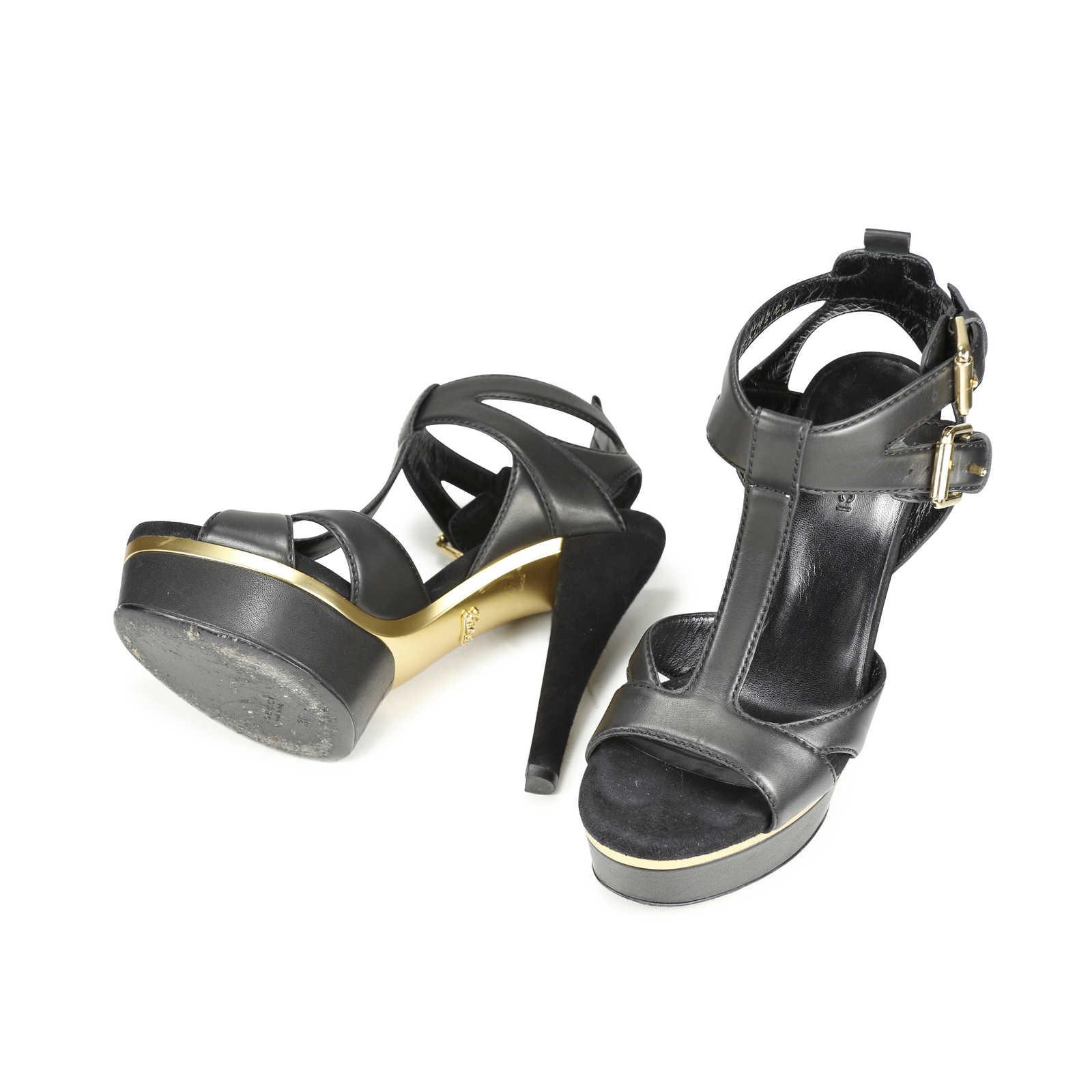 a5e4599cc134b3 ... Authentic Second Hand Gucci Iman T-Strap Sandals (PSS-183-00030) ...