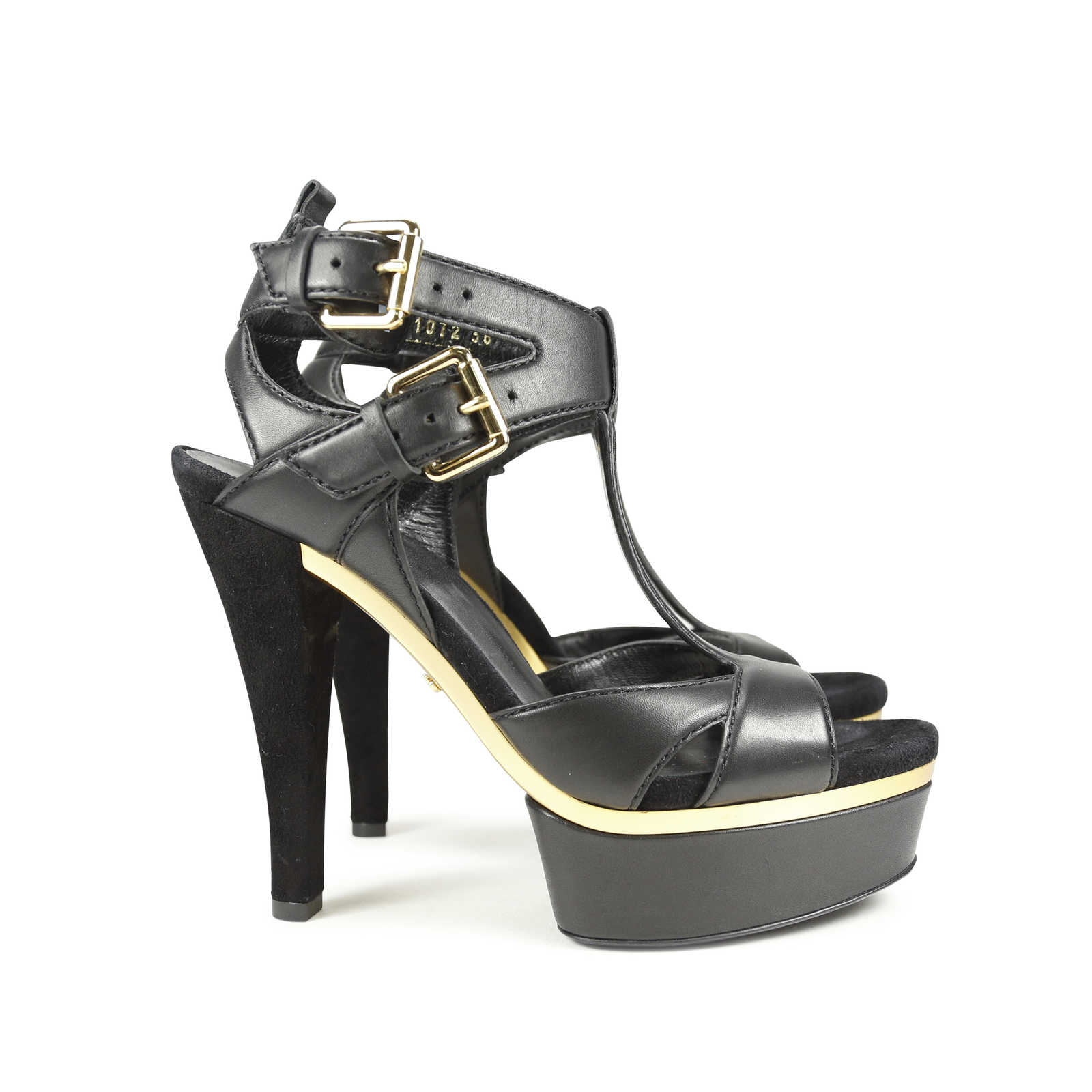 57afd6e47d0424 ... Authentic Second Hand Gucci Iman T-Strap Sandals (PSS-183-00030)