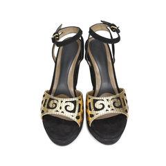 Swirl Suede Sandals
