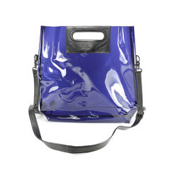 Sheer Patent Shoulder Bag