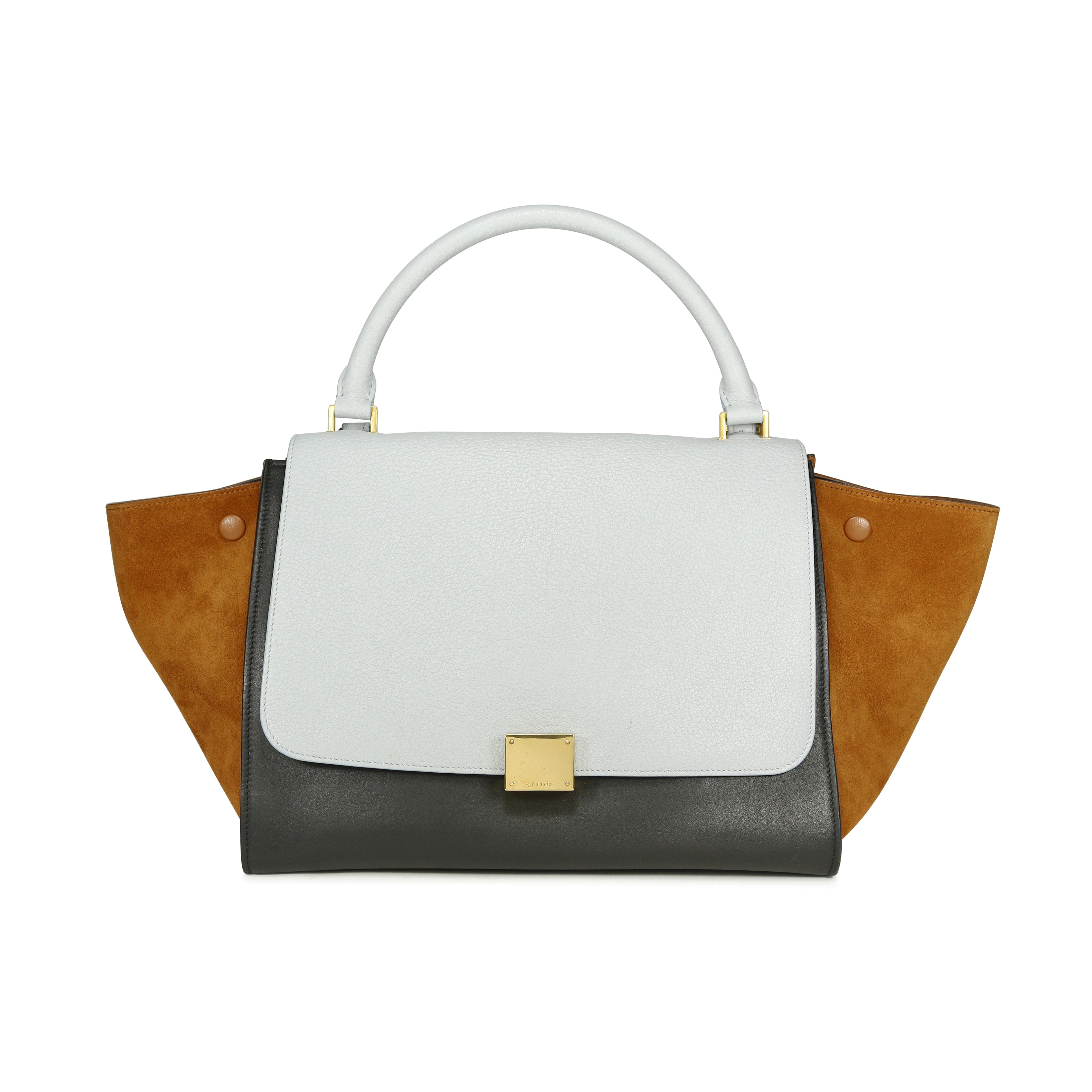 05e38c4a501f Authentic Second Hand Céline Tri-colour Trapeze Bag (PSS-196-00001 ...