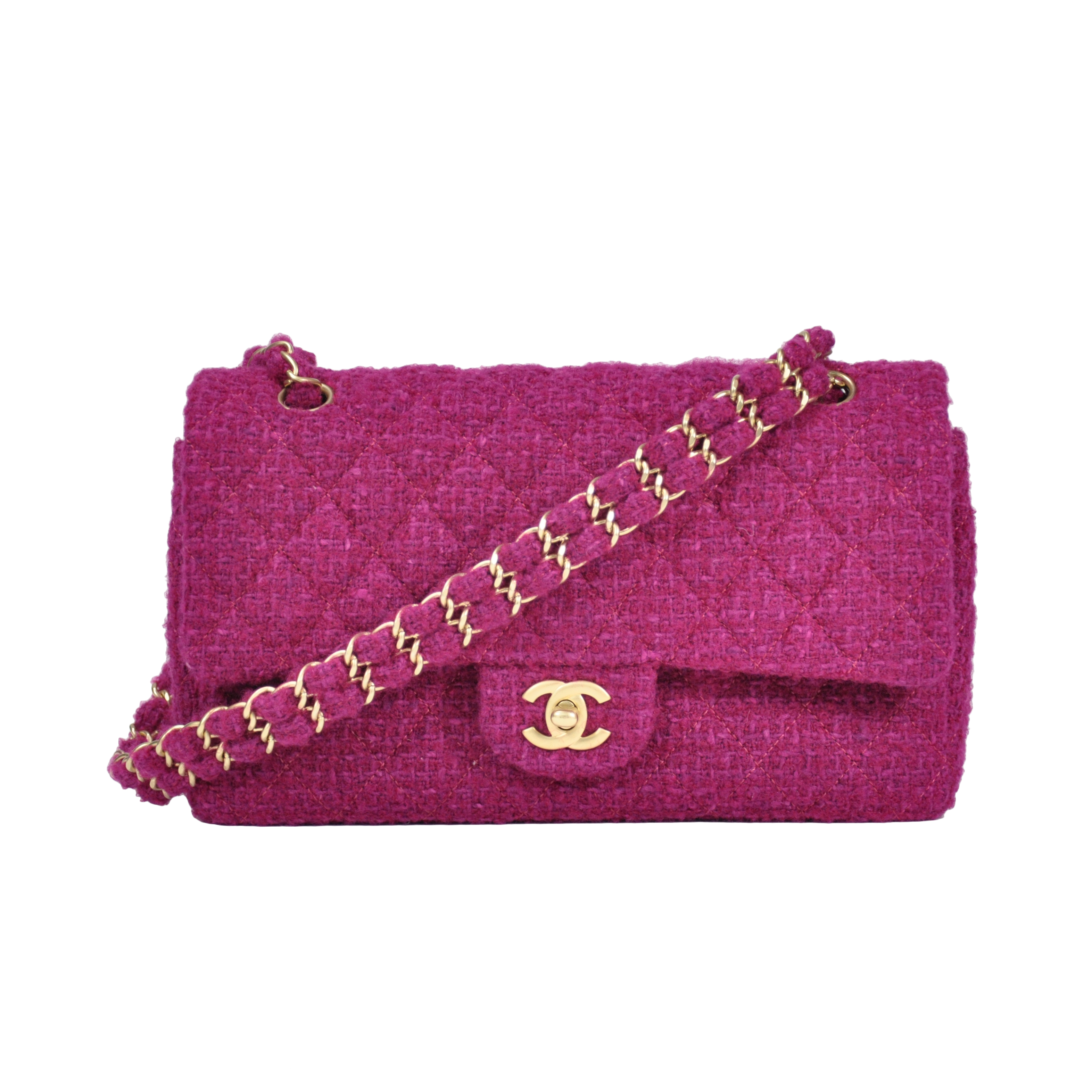 af74ffb120b6 Authentic Second Hand Chanel Classic Tweed Flap Bag (PSS-051-00024) | THE  FIFTH COLLECTION
