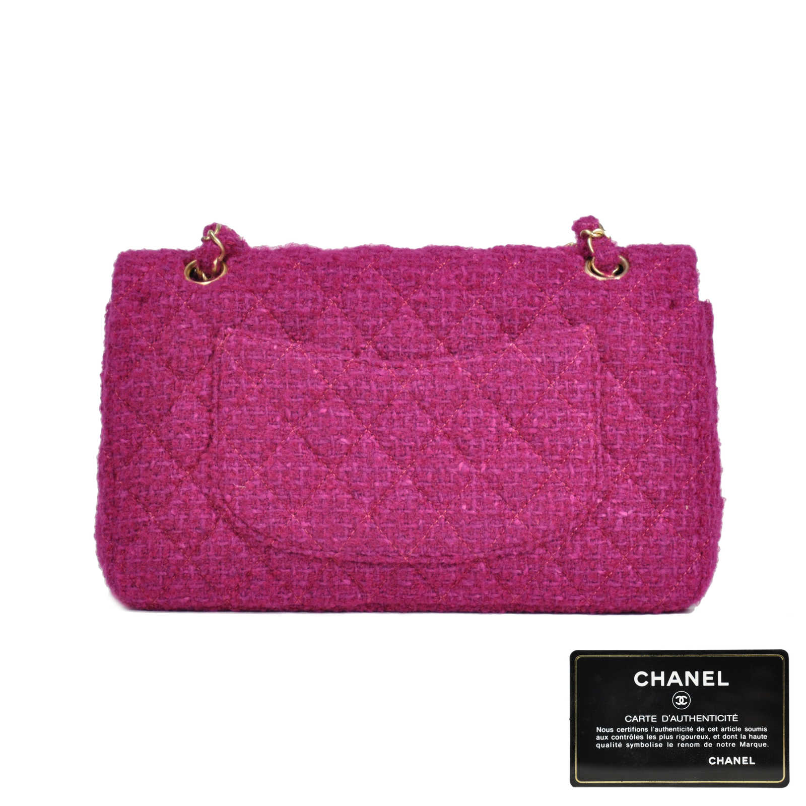 a5a516aeaf50 ... Authentic Second Hand Chanel Classic Tweed Flap Bag (PSS-051-00024) ...