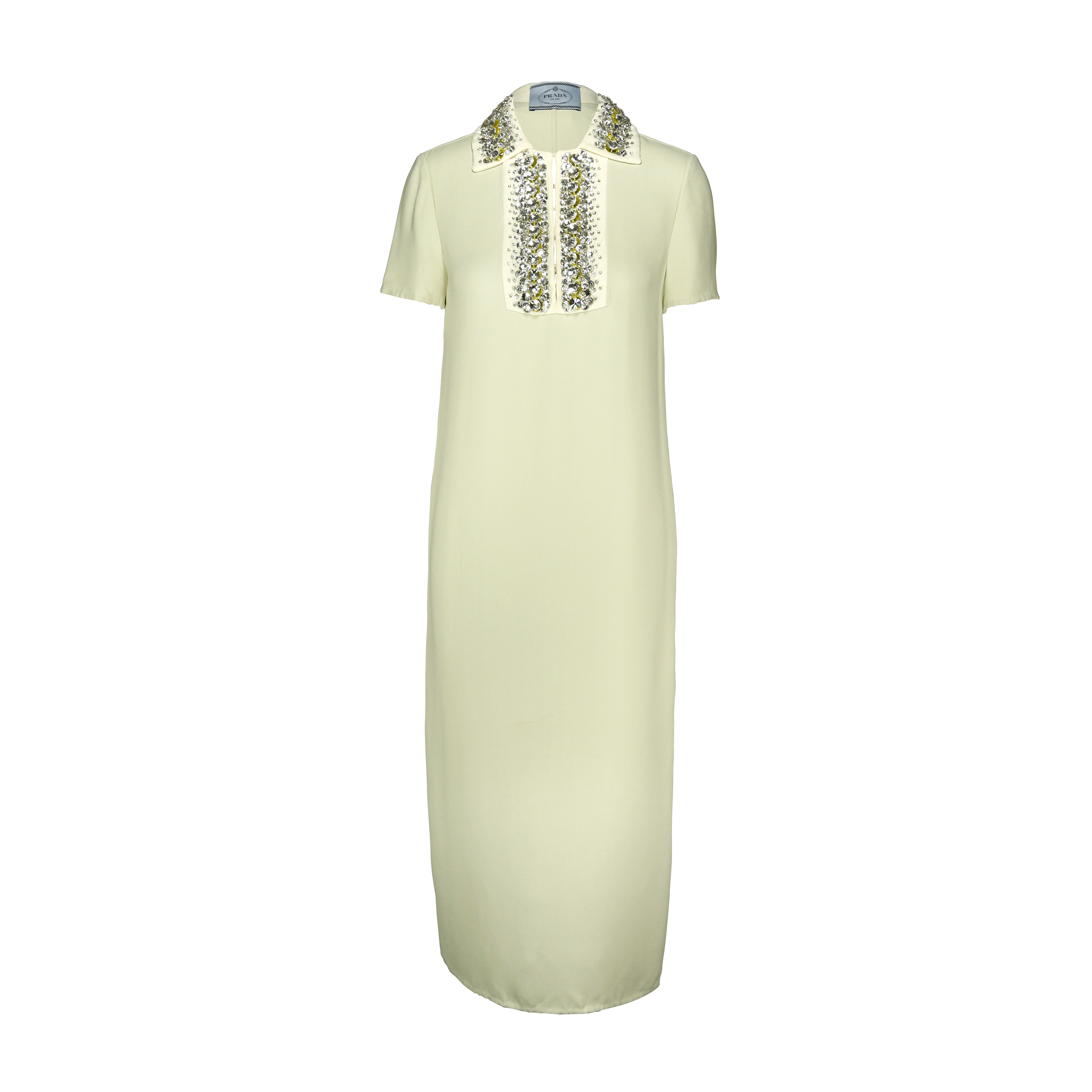 Authentic Pre Owned Prada Crystal Embellished Collar Dress ...